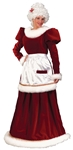 Ultra Velvet Mrs. Claus Adult Costume - Small/Medium
