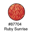 Ruby Sunrise Glitter Glam Makeup