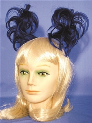 Anime Hairpiece Blue/Black