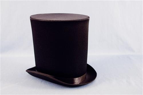 9a862d8db2a Victorian Coachman Satin Top Hat - Bartz s Party Stores