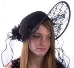 Derby Hat - Black Seductress
