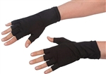 Black Fingerless 8 Inch Short Cotton Stretch Gloves