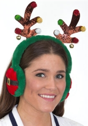 Antler Headband With Ear Muffs