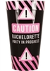 Caution Bachelorette Plastic Cup