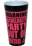 Warning Bachelorette Plastic Cup