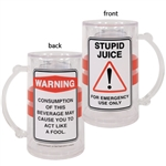 Stupid Juice Caution Party Tankard