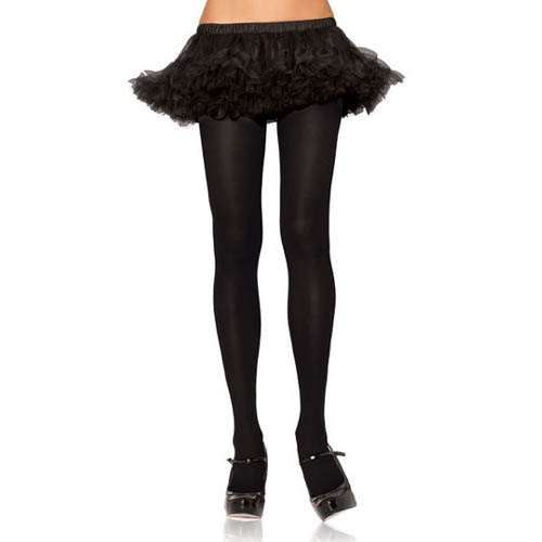 704f6a85bdee75 Adult Black Nylon Tights - Plus Size - Bartz's Party Stores