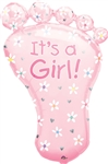 It's A Girl! Foot Shape Mylar Balloon