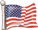 American Flag 27 Inch Shaped Mylar Balloon