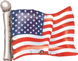 American Flag Shaped Mylar Balloon