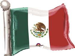Mexican Flag Shaped Mylar Balloon