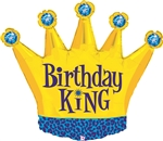 Birthday King Mylar Balloon