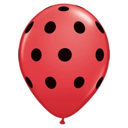 Big Polka Dots Red Latex Balloons (5 in)