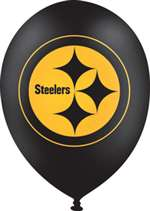 11in. Steelers Balloons 6Ct