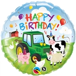 Birthday Barnyard Mylar Balloon