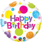 Birthday Big Polka Dots Mylar Balloon