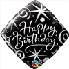 Happy Birthday Elegant Sparkle Mylar Balloon
