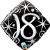 18th Birthday Elegant Sparkle Mylar Balloon