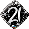 21st Birthday Elegant Sparkle Mylar Balloon