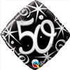 50th Birthday Elegant Sparkle Mylar Balloon