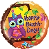 Happy Birthday Owl Mylar Balloon