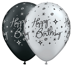 Birthday Elegant Sparkles Latex Balloons (11 in)