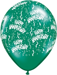 Anniversary-A-Round Jewel Tone Latex Balloons (11 in)