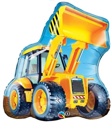 Construction Front End Loader Large 32 Inch Mylar Balloon