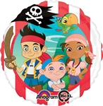 Jake and the Neverland Pirates Mylar Balloon Packaged