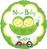 Peas in a Pod Twins Mylar Balloon
