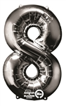 "Silver ""8"" Shaped Mylar Balloon"