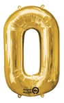 "Gold ""0"" Shaped Mylar Balloon"