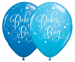 Baby Boy Stars Latex Balloon (11 in)