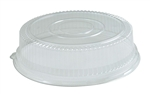 "Clear 18"" Round Lid For Platters"