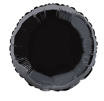 Black Round Mylar Balloon