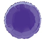 Deep Purple Round Mylar Balloon