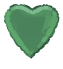 Green Heart Mylar Balloon