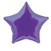 Deep Purple Star Mylar Balloon