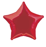 Red Star Mylar Balloon