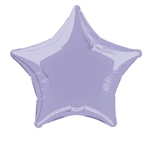 Lavender Star Mylar Balloon