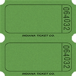 GREEN DOUBLE BLANK TICKETS