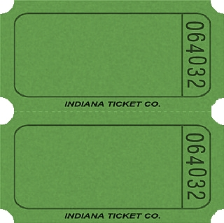 GREEN DOUBLE BLANK TICKETS  Blank Ticket