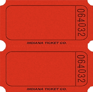 Red Double Blank Tickets