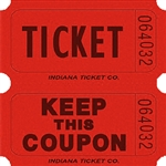 RED DOUBLE KEEP COUPON TICKETS