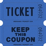 BLUE DOUBLE KEEP COUPON TICKETS