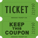 GREEN DOUBLE KEEP COUPON TICKETS