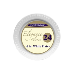 6in. Clear Elegance Plates