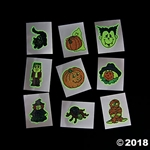 Halloween Glow In The Dark Tattoos