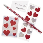 Valentine Prismatic Stationery Set