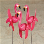 Flamingo Twirling Yard Stakes - 6 Piece Set